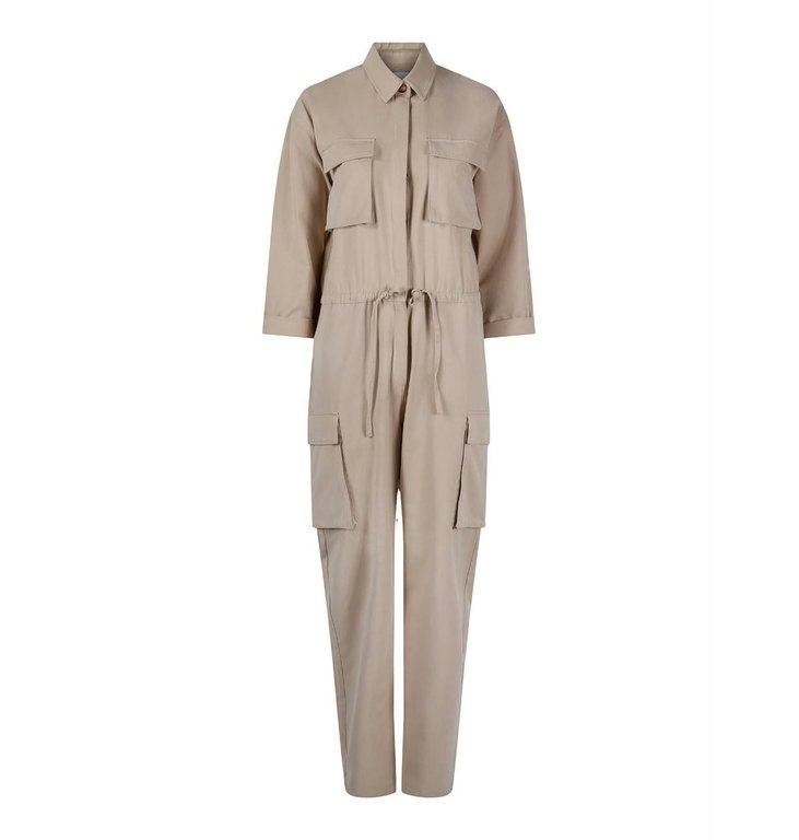 One & Other One & Other Beige Jumpsuit Una
