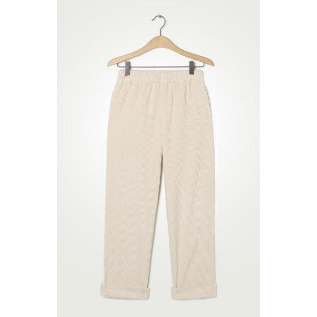 American Vintage Ecru Pantalon PADO137