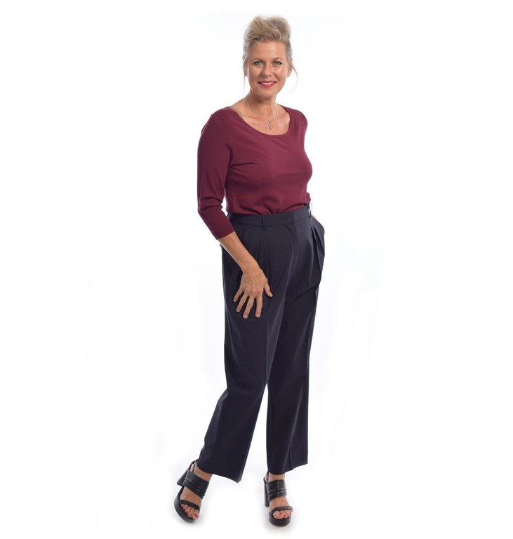 Max Mara Weekend Max Mara Weekend Navy Pantalon Orione