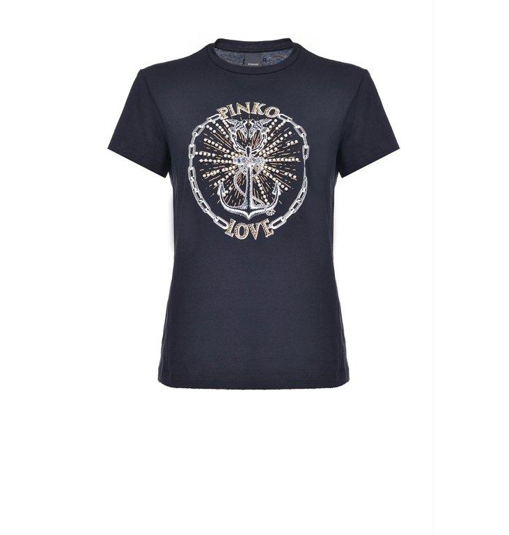 Pinko Pinko Black T-Shirt Edgardo