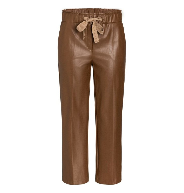 Cambio Cambio Camel Colette Faux Leather Pants 6305-0229-03