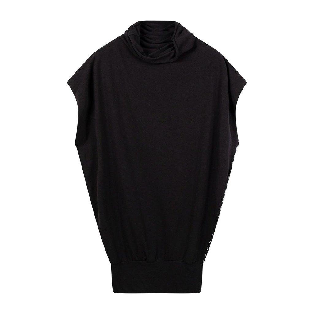 10Days Black Soft High Neck Top 20-464-0203