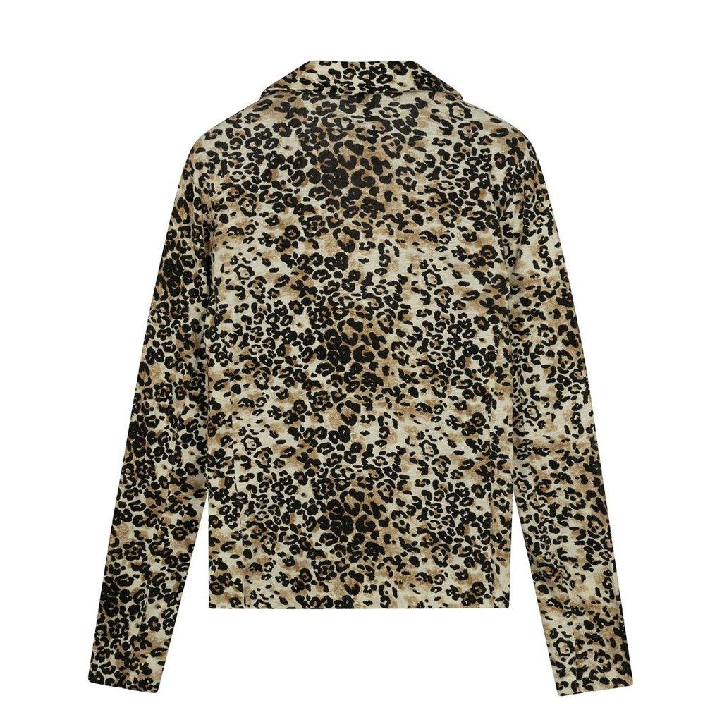 10Days Winter White Blazer Tee Leopard 20-502-0203