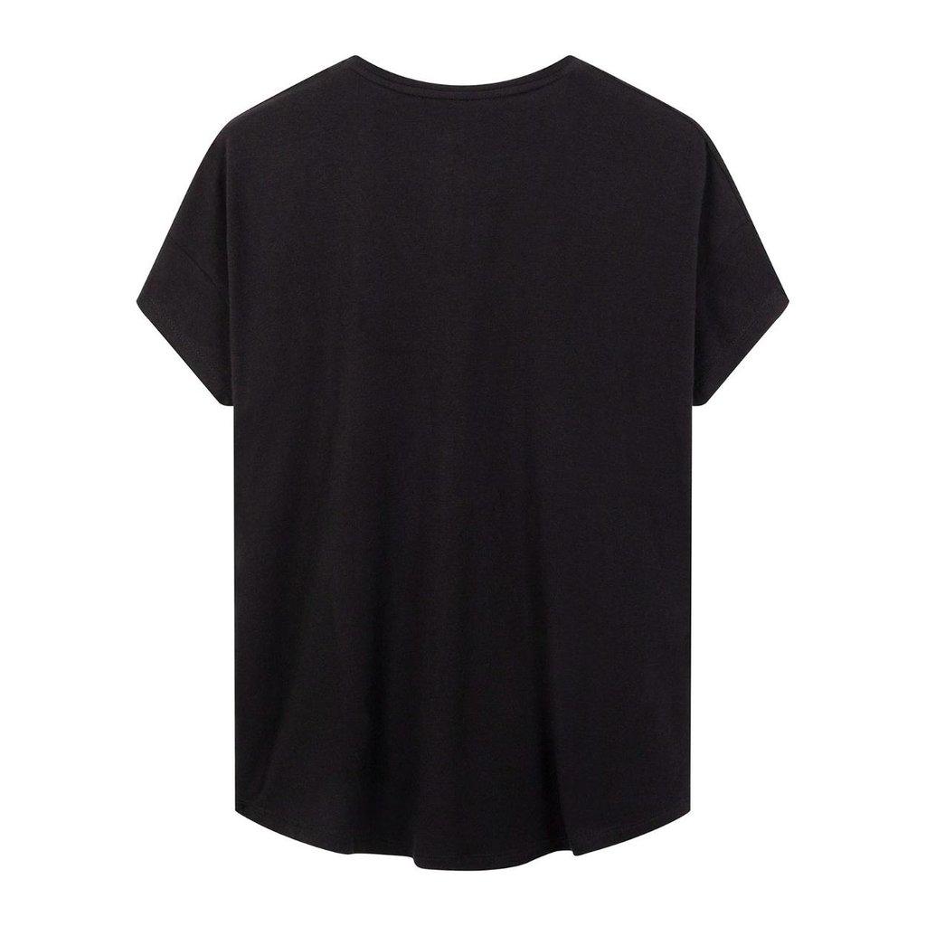 10Days Black Soft Shortsleeve Tee 20-741-0203