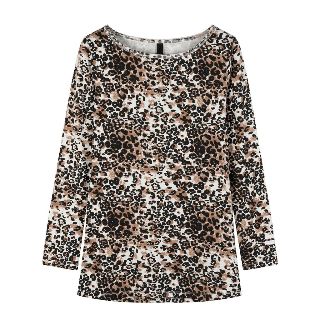 10Days Winter White Boat Neck Tee Leopard 20-774-0203