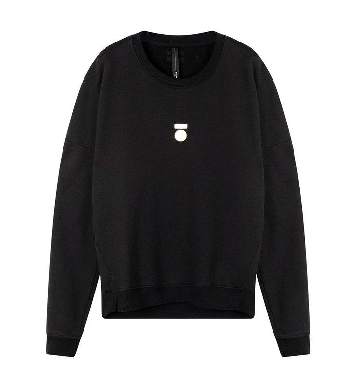 10Days 10Days Black Foil Print Sweater 20-810-0203