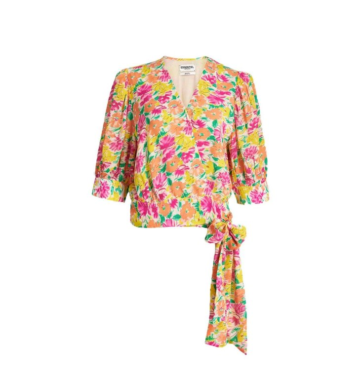 Essentiel Antwerp Essentiel Antwerp Floral Wrap Top Wariah