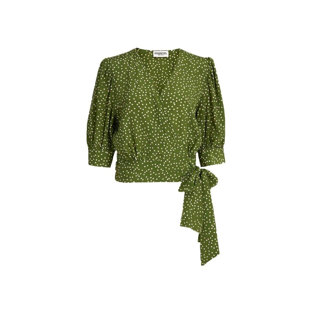 Essentiel Antwerp Green Wrap Top Wariah
