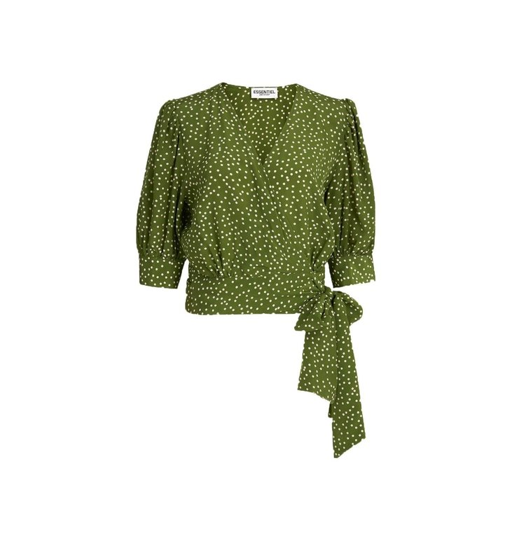 Essentiel Antwerp Essentiel Antwerp Green Wrap Top Wariah