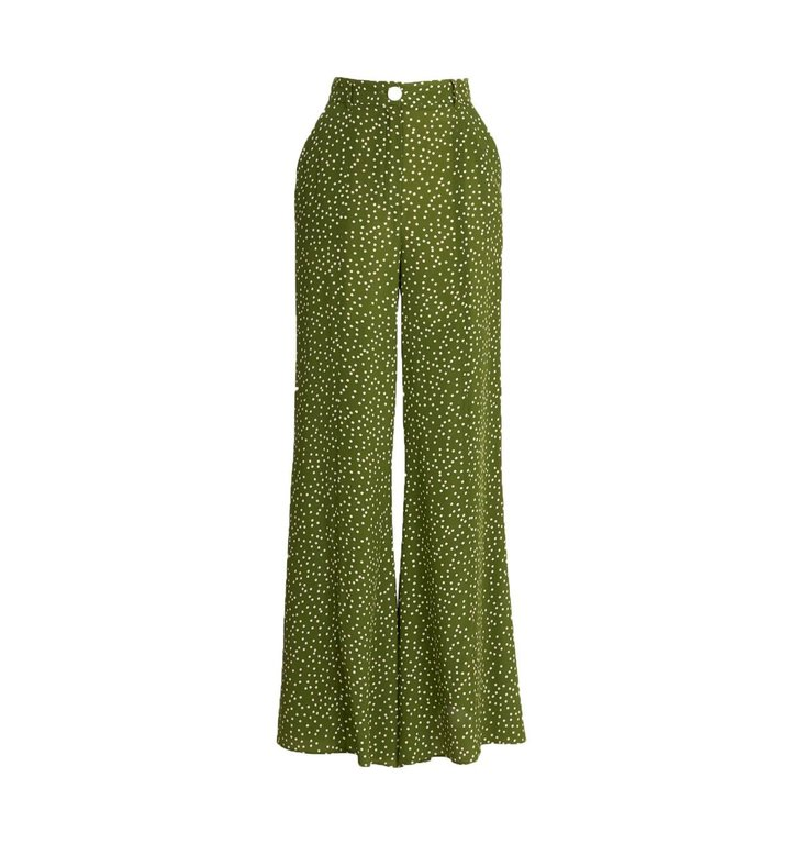 Essentiel Antwerp Essentiel Antwerp Green Flared Pants Waima