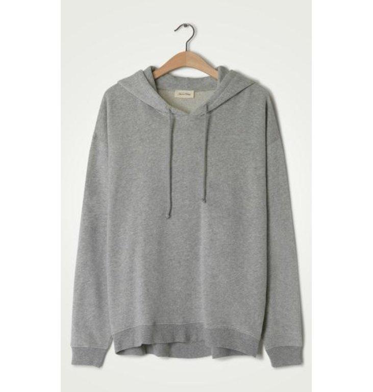 American Vintage American Vintage Grey Melee Capuchon Sweater Nea03