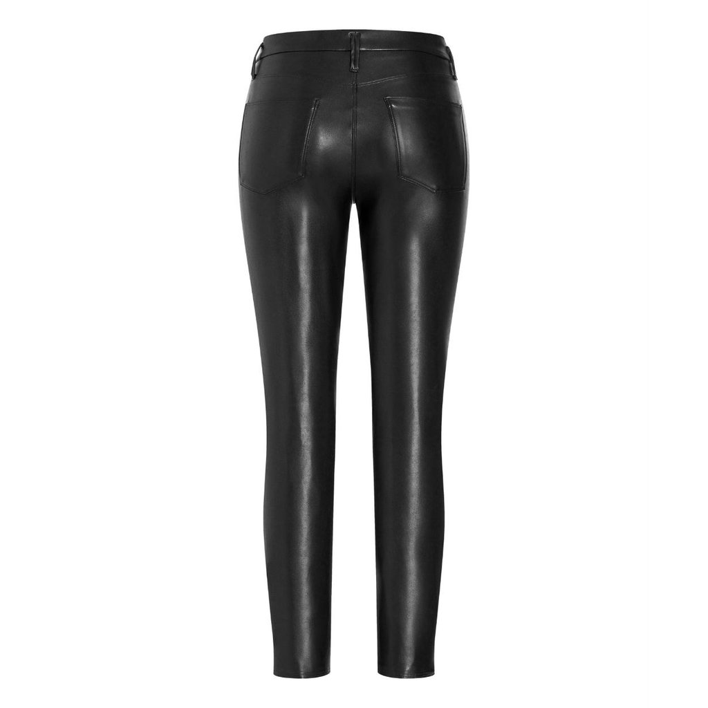 Cambio Black Ray Faux Leather Pants 6301-0268-01