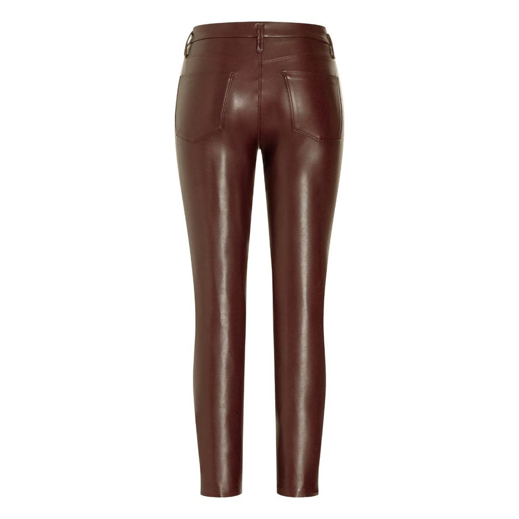 Cambio Brown Ray Faux Leather Pants 6301-0268-01