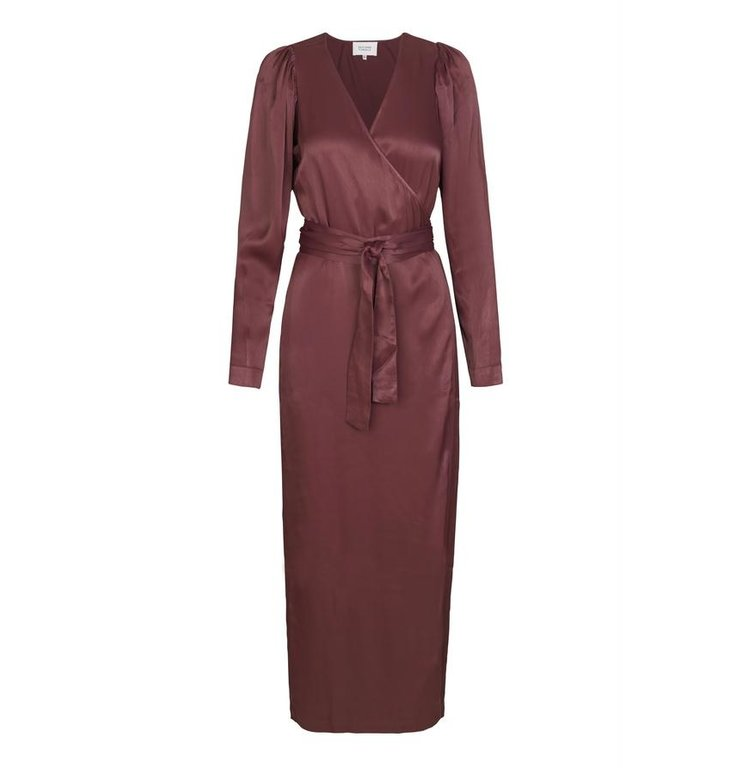 Second Female Second Female Bordeaux Lily Wrap Dress 53708