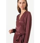 Second Female Bordeaux Lily Wrap Dress 53708