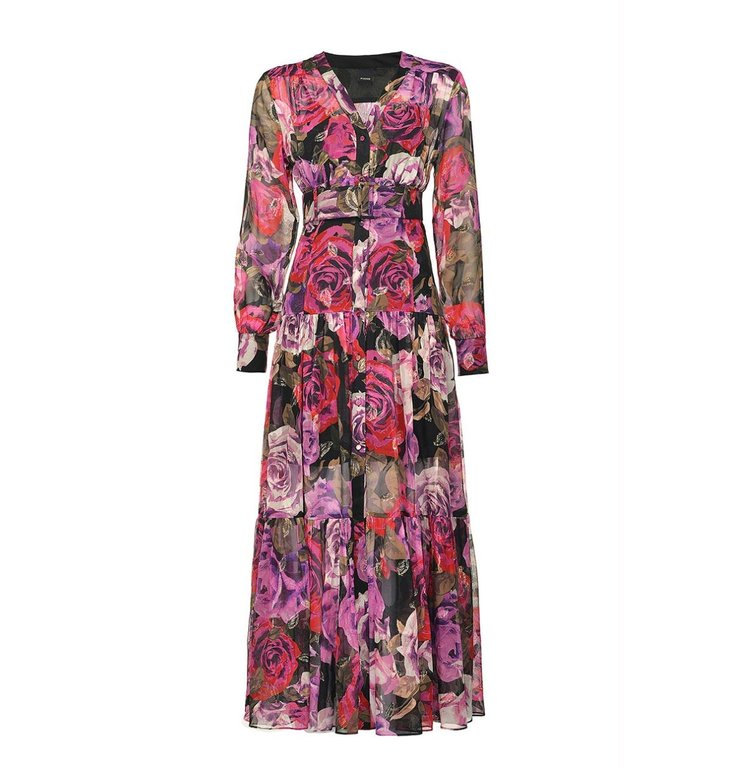 Pinko Pinko Pink/Multi Colour Dress Costantino 1 Abito