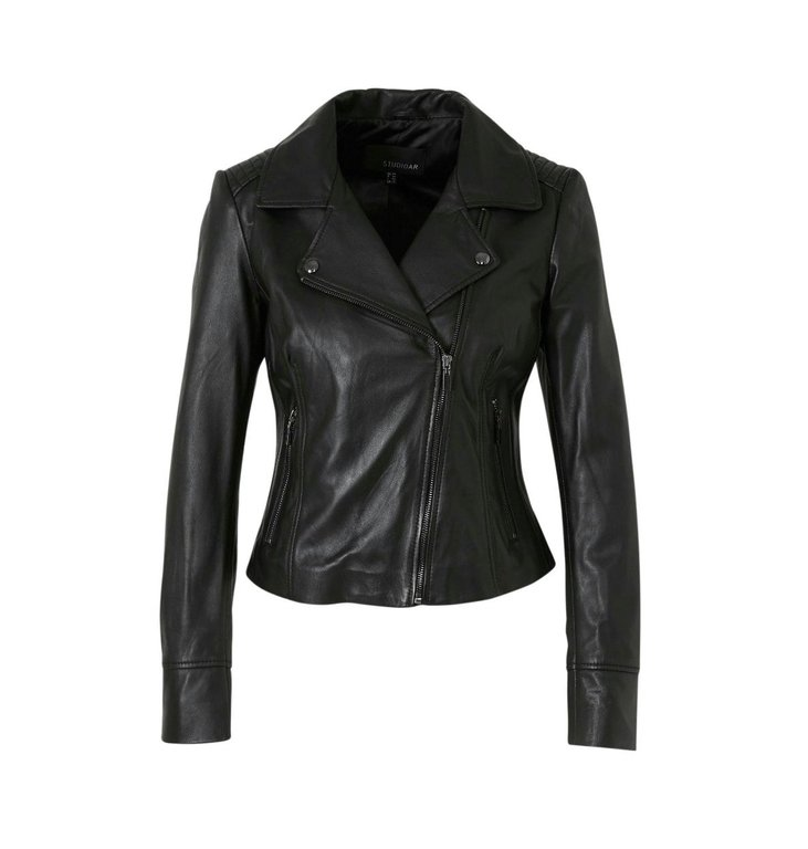 Studio AR by Arma Studio AR by Arma Black Gomera Leather Jacket 016L206105