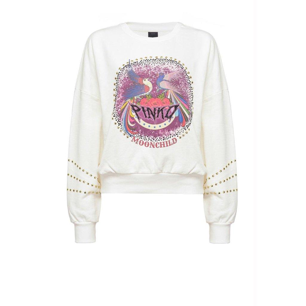Pinko Off White Sweater Bernardo Maglia