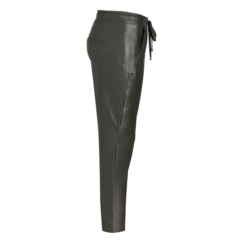 Cambio Kaki Jorden Faux Leather Pants 6305-0391-01
