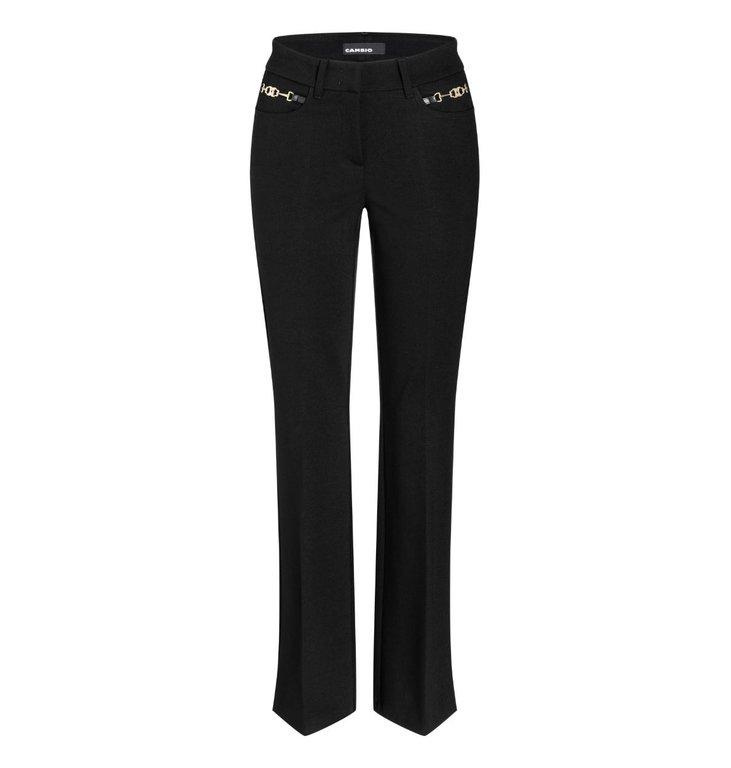 Cambio Cambio Black Fleur Pants 6201-0212-01