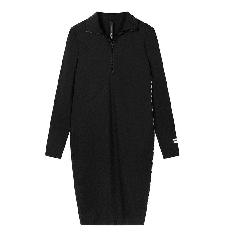 10Days 10Days Black dress leopard 20-331-0203