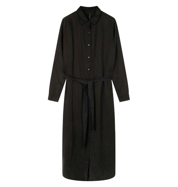 10Days 10Days Black long shirt dress 20-410-0203