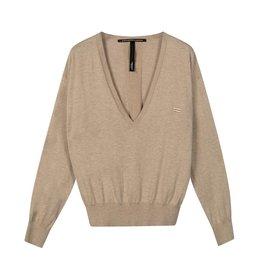 10Days 10Days Safari sweater v-neck sparkle 20-609-0203
