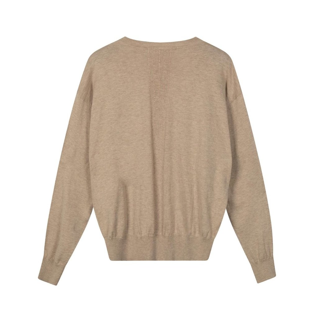 10Days Safari sweater v-neck sparkle 20-609-0203