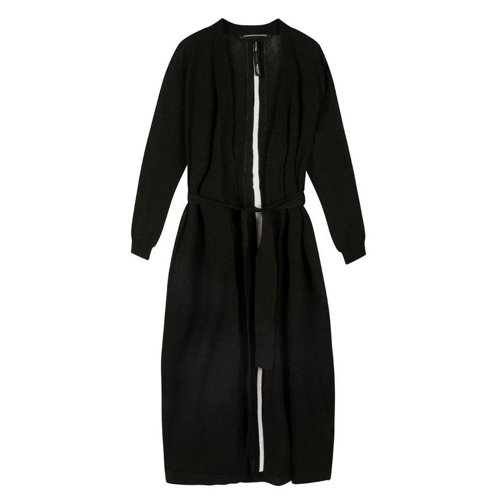 10Days Black long cardigan 20-651-0203