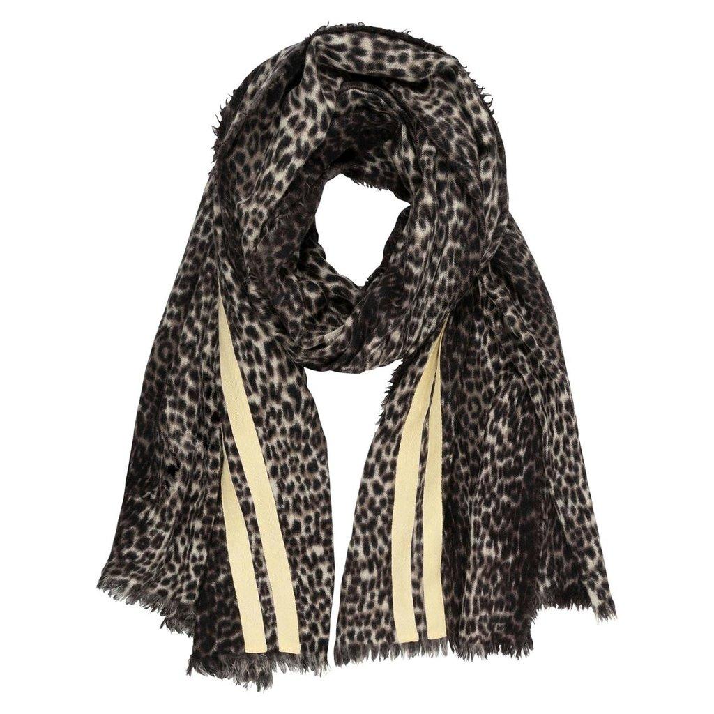 10Days Winter White scarf leopard 20-909-0203