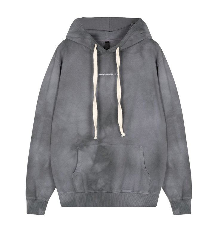 10Days 10Days Grey Hoodie Tie Dye 20-802-0206