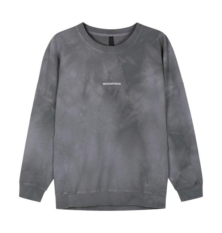 10Days 10Days Grey Oversized Sweater Tie Dye 20-803-0206