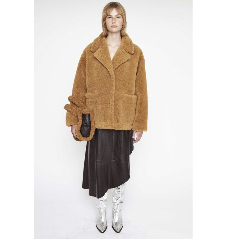 Stand Stand Sand Marina Faux Fur Coat 61183-9040