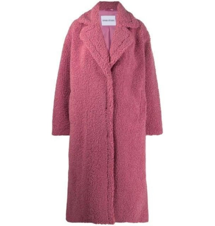 Stand Stand Pink Maria Faux Fur Coat 61122-9080