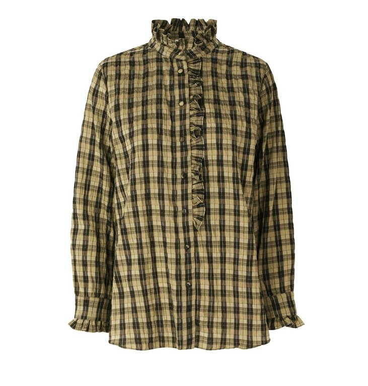 Second Female Second Female Kaki Osla Shirt 53933