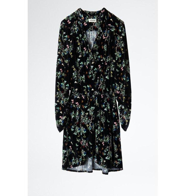 Zadig & Voltaire Zadig & Voltaire Black Dress Reveal Velvet B