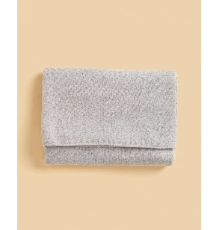 Absolute Cashmere Absolute Cashmere Light Grey Melee Sjaal Anais AC102000C