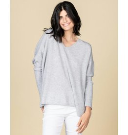 Absolute Cashmere Absolute Cashmere Light Grey Melee Pull Camille AC102011C