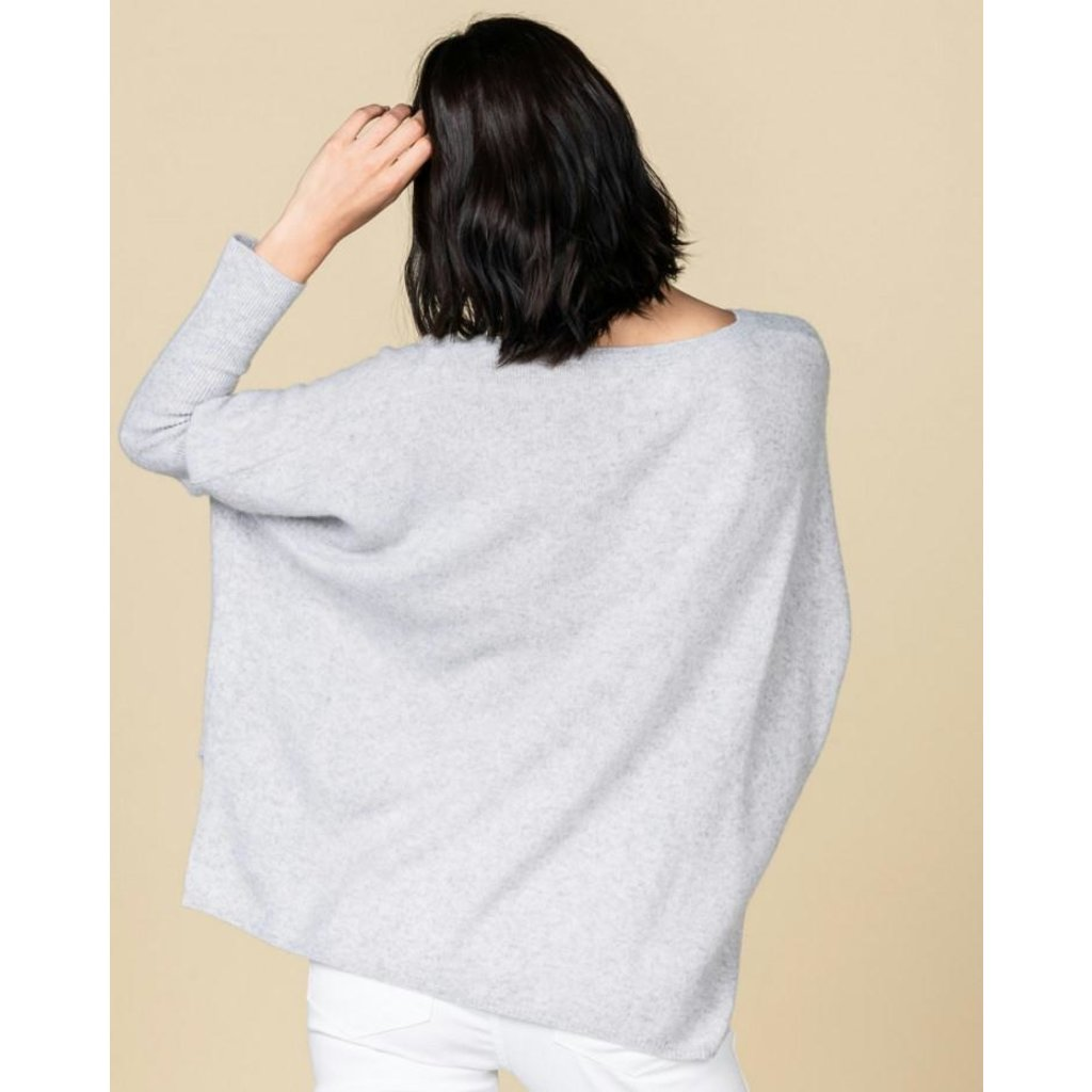 Absolute Cashmere Light Grey Melee Pull Camille AC102011C