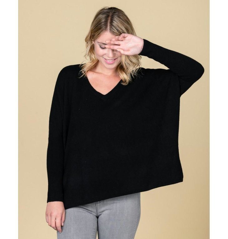 Absolute Cashmere Absolute Cashmere Black Pull Camille AC102011C