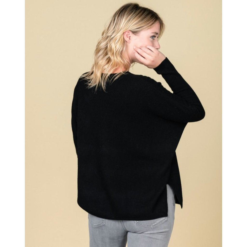 Absolute Cashmere Black Pull Camille AC102011C