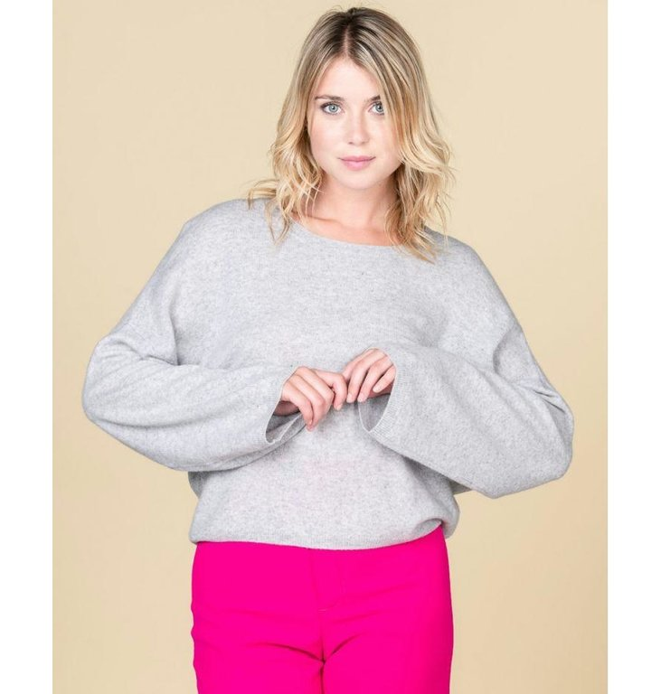 Absolute Cashmere Absolute Cashmere Light Grey Melee Pull Alicia AC102018C