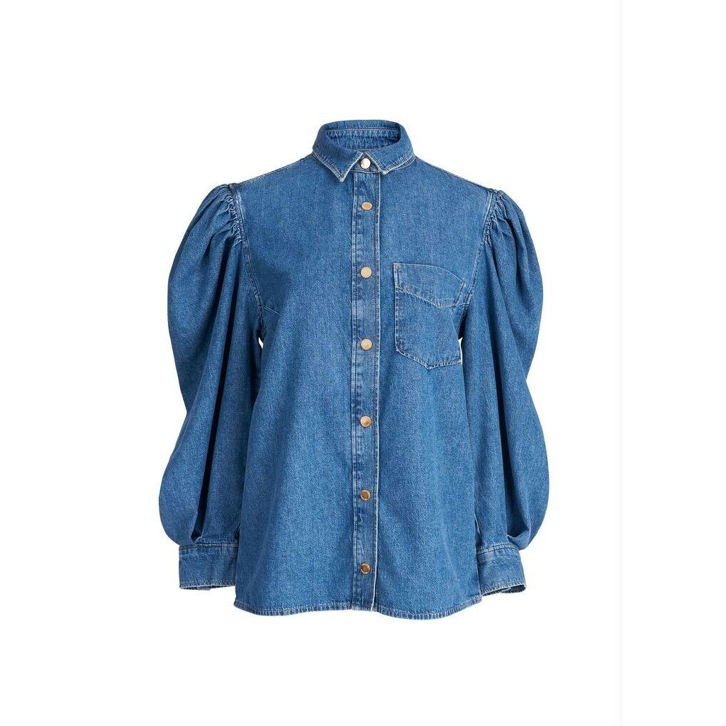 Essentiel Antwerp Indigo Denim Blouse Wingman