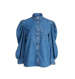 Essentiel Antwerp Essentiel Antwerp Indigo Denim Blouse Wingman