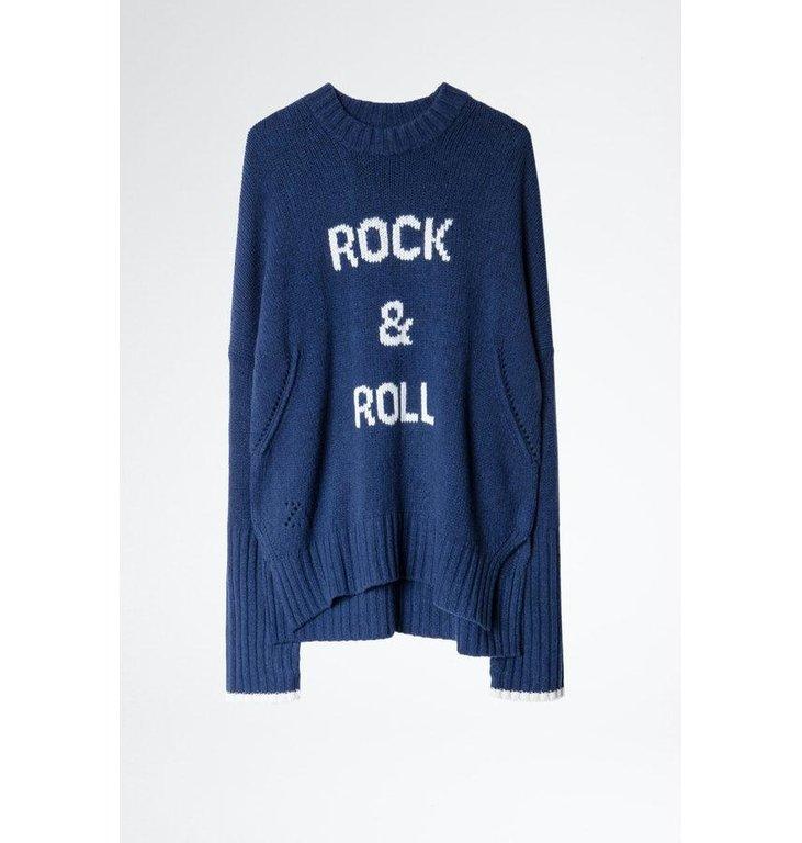 Zadig & Voltaire Zadig & Voltaire Indigo Knit Malta Mw Rock