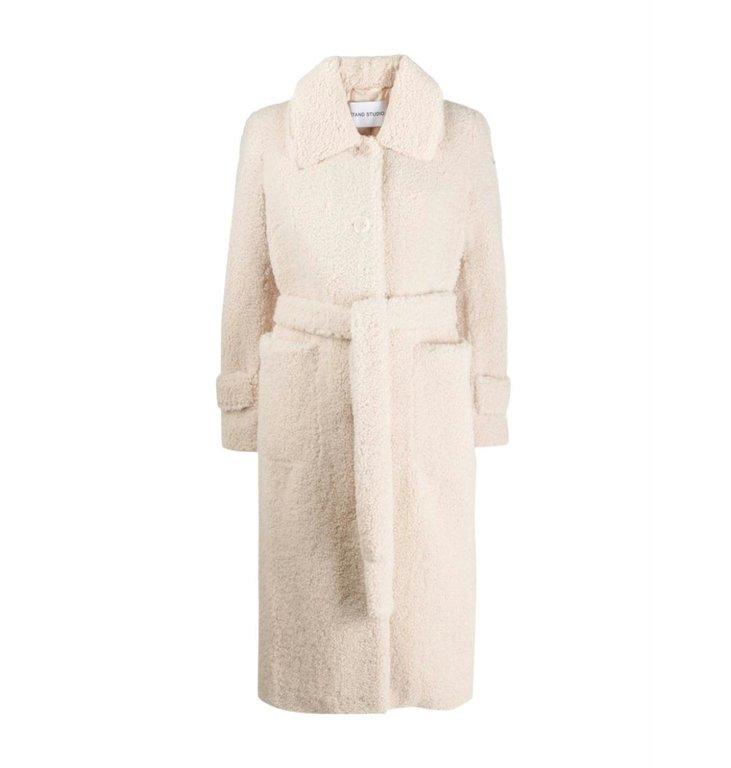 Stand Stand Ecru Lottie Faux Fur Coat 61177-9080
