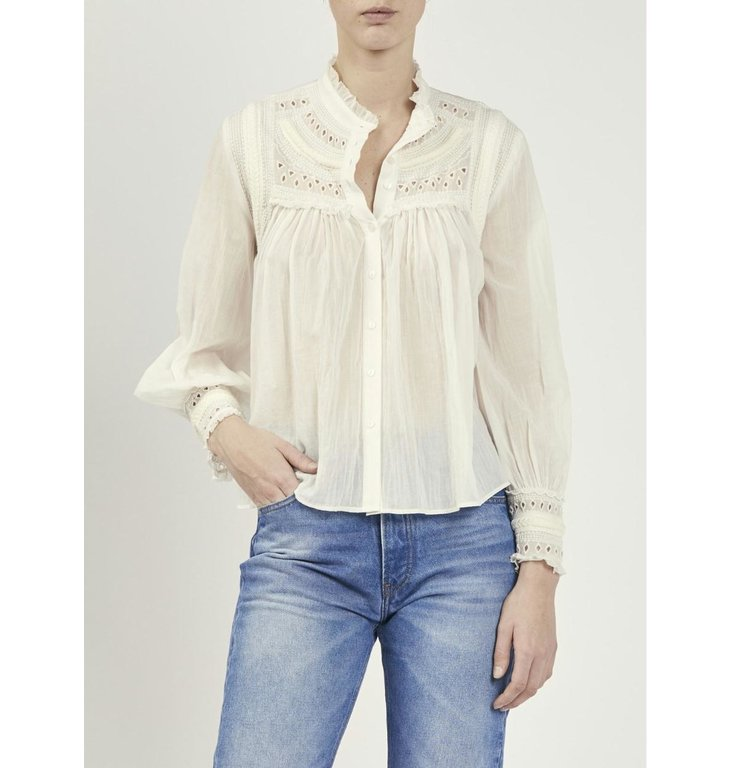 Ba&sh Ba&sh Off White Blouse Leaf