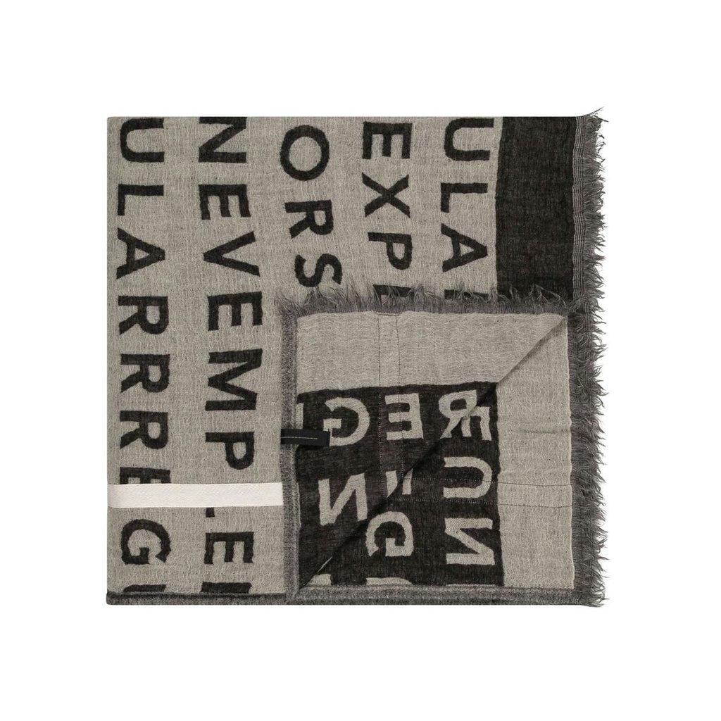10Days Ecru scarf big slogan 20-905-0203