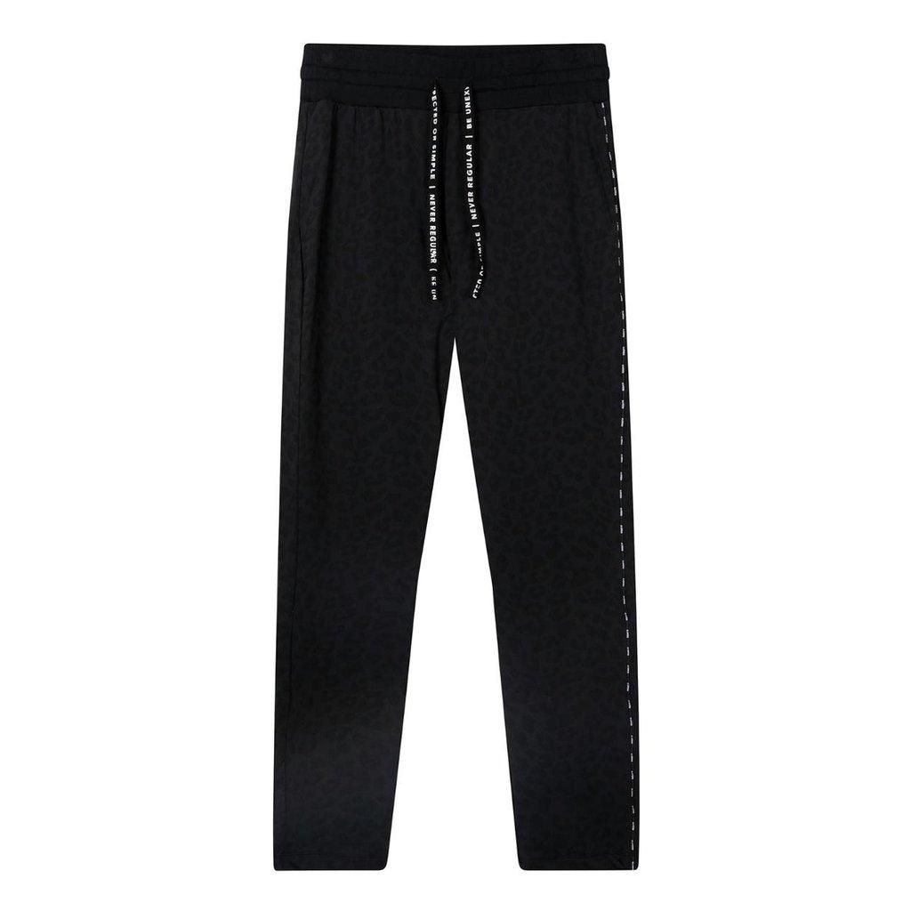 10Days Black banana pants leopard 20-057-0203