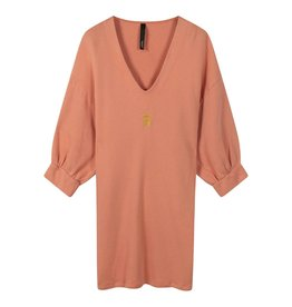 10Days 10Days Pink Terracotta v-neck tunic fleece 20-346-0203